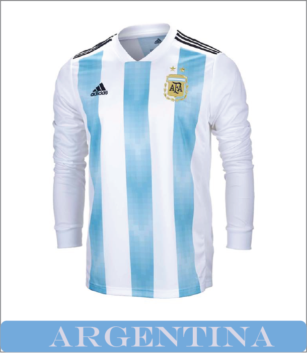 3e7577c9fd9 ARGENTINA WORLD CUP 2018 HOME JERSEY