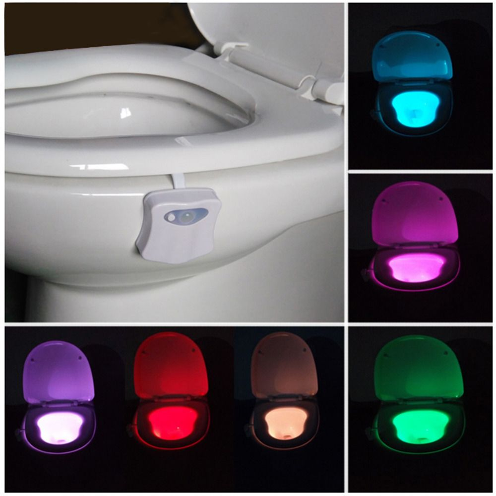 Pleasing 8 Colors Changing Led Toilet Nightlight Motion Activated Beutiful Home Inspiration Xortanetmahrainfo