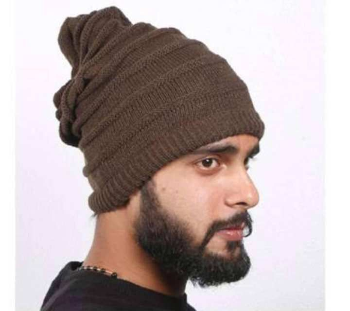 73aac379803 Chocolate Woolen Winter Cap For Men - DFW1321