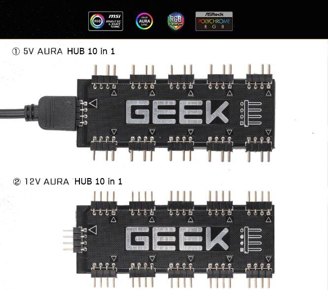 HUB ARGB & RGB 10 IN 1
