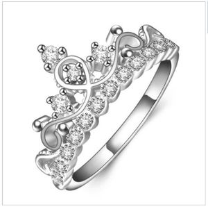 be8843494e ❆❆Exquisite Crown Shaped Ring CZ Rings for Women Fashion Color Aneis De  Ouro Zirconia